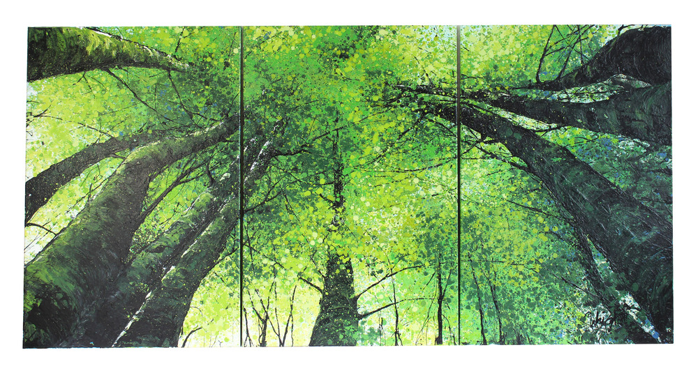 "Green Canopy (Triptych Set) | 48x26"""