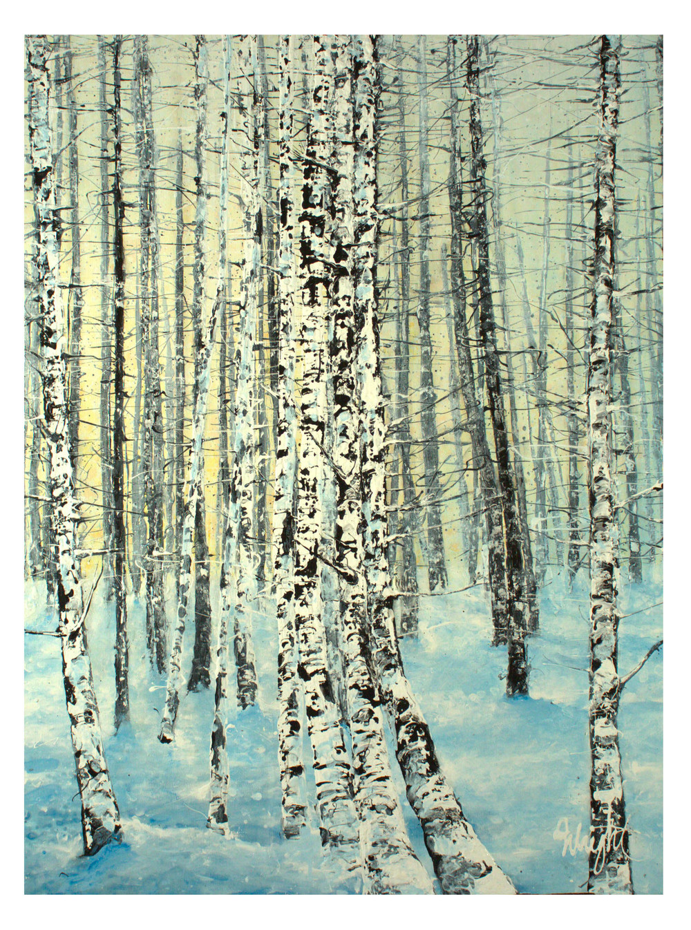 "Snowshoe in Breckenridge | 30x40"""