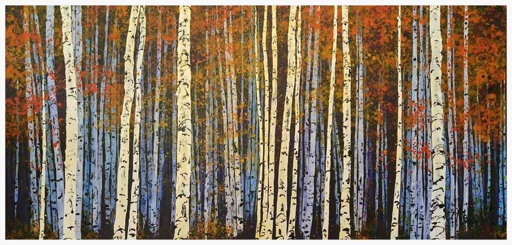"Purple Trees   60x30"""