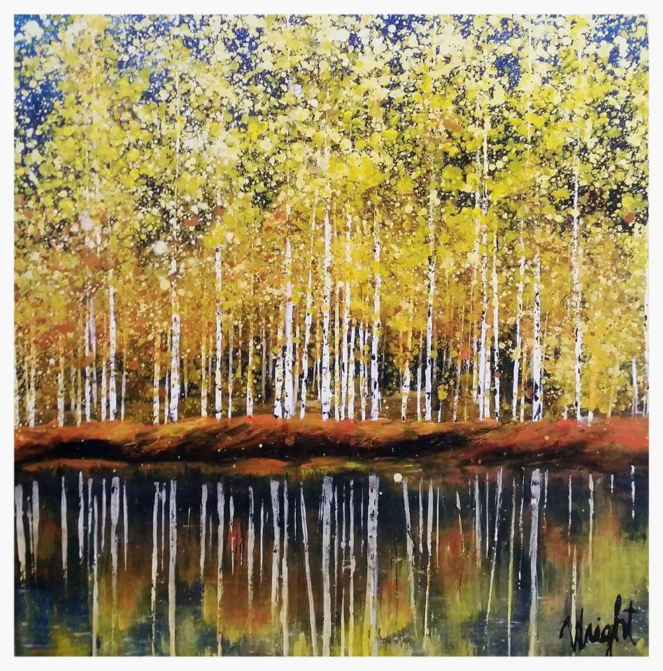 """Forest Reflection   36x36x2"""""""