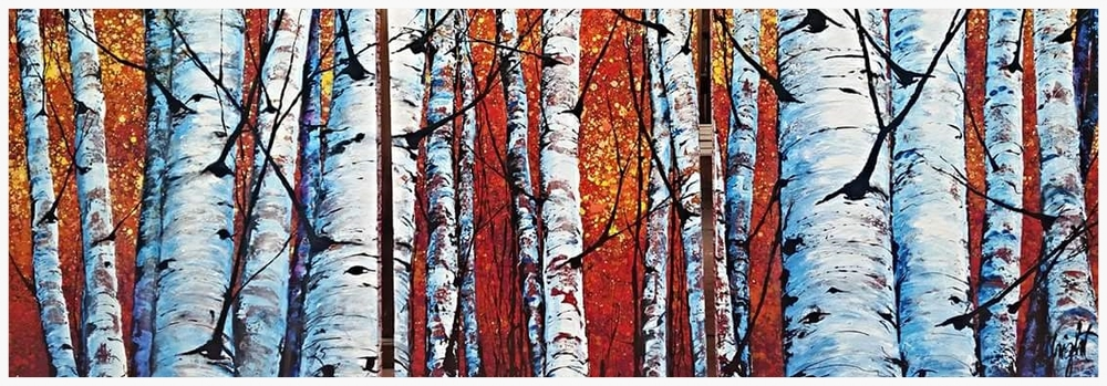 Red Mountain   Triptych Set   7'