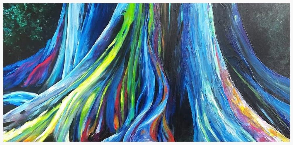 "Rainbow Eucalyptus Trees | 60x30x2"""