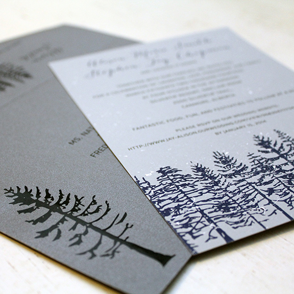 Hand painted winter wedding invitations wedding invitations hand painted winter wedding invitations solutioingenieria Gallery
