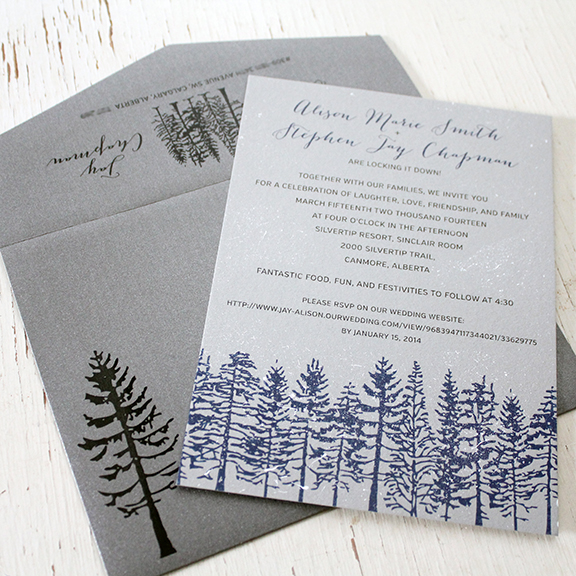 Hand Painted Winter Wedding Invitations U2014 Wedding Invitations Calgary,  Canmore And Banff