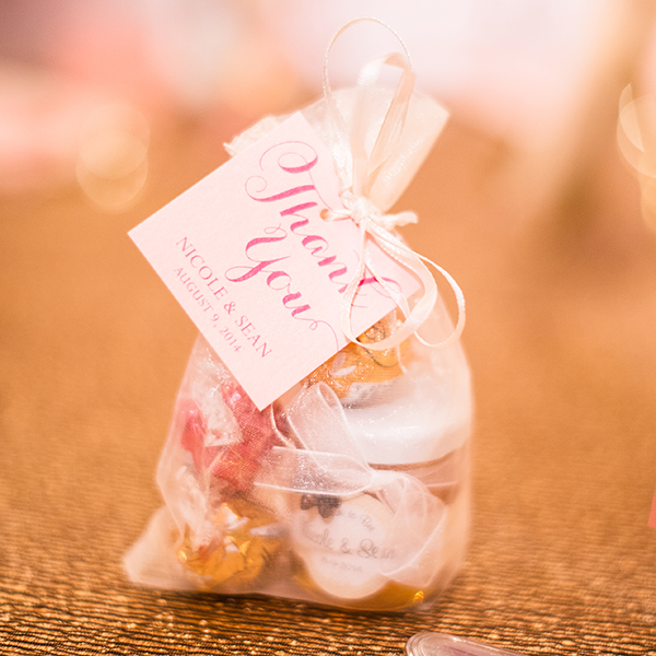 Pink Umbrella Designs - Favour Tag. Photo by Crista-Lee Photography