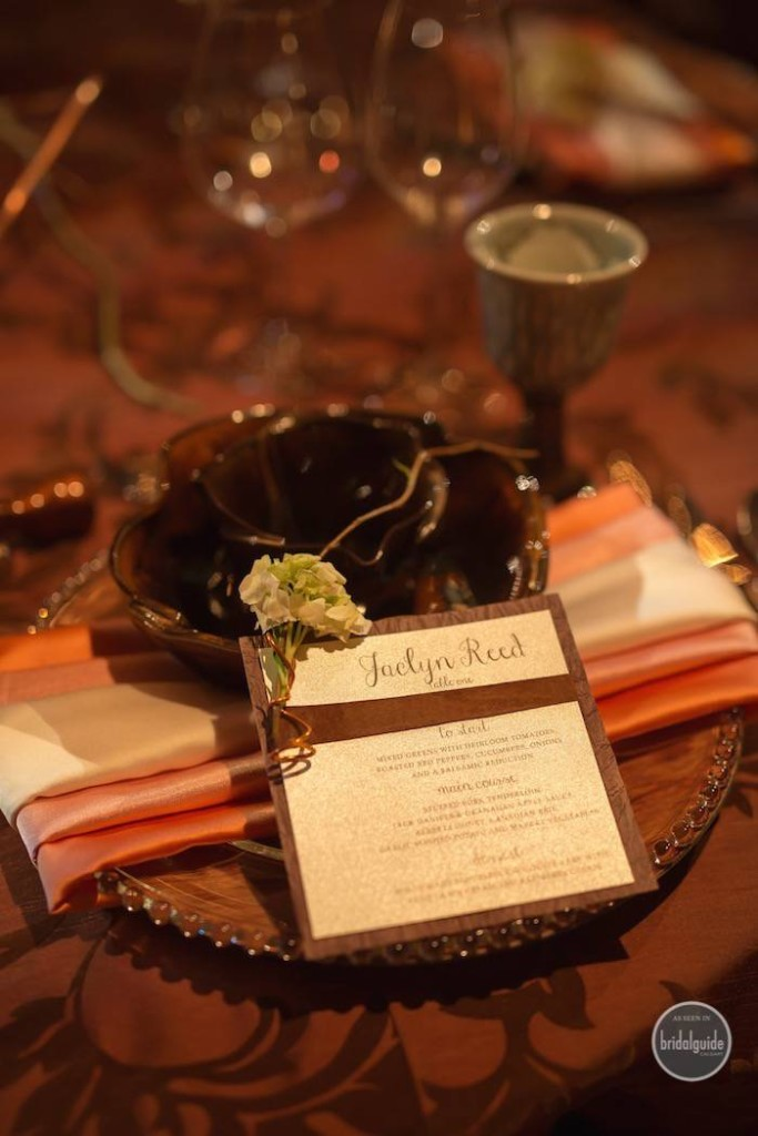 Calgary Bridal Guide Photoshoot - Wedding Invitations Table Menu