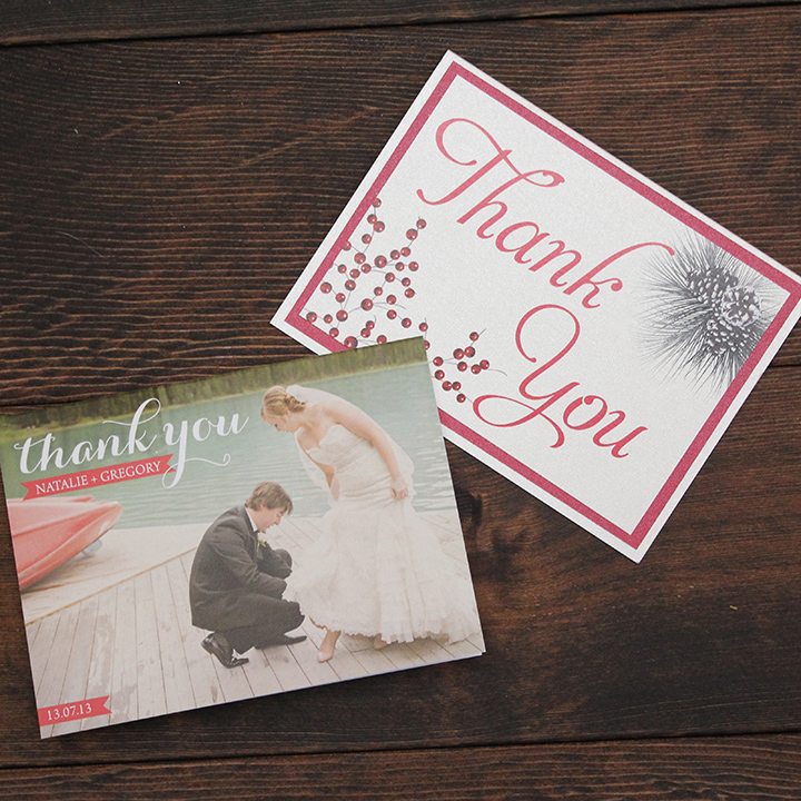Wedding Thank You Cards - Calgary Canmore Banff