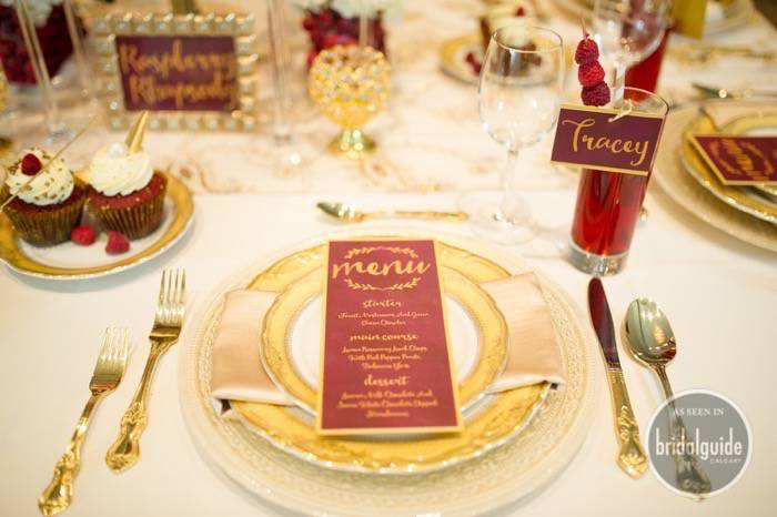 Marsala wedding invitation inspiration for Calgary Bride