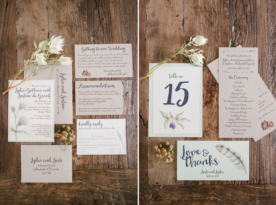 Calgary Wedding Invitations - Banff BOHO Wedding