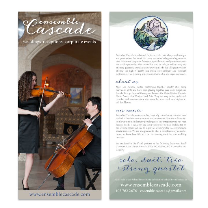 Cascade Ensemble Rack Card Design Banff
