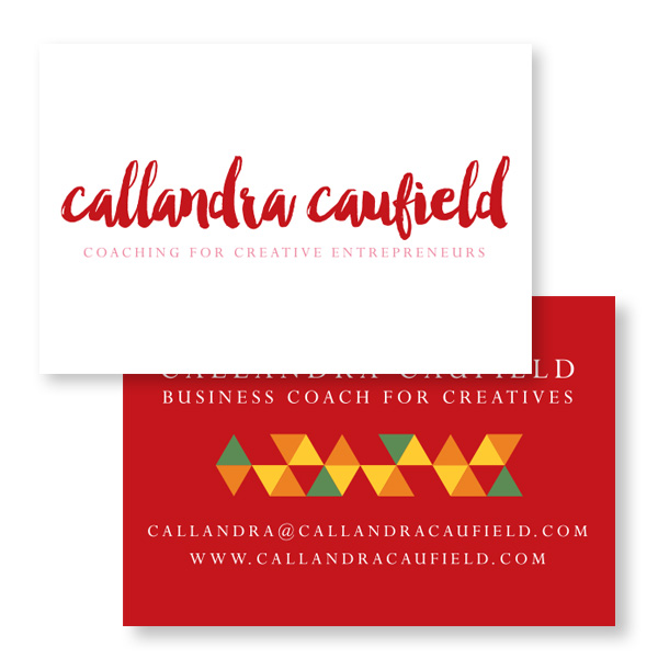 Callandra Caufield Logo and Business Card Design