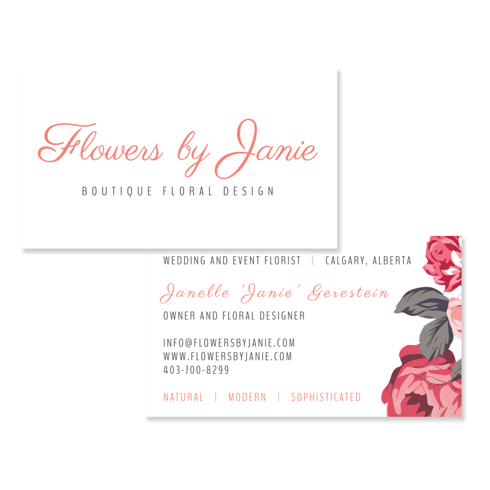 Floral Studio Calgary Branding Graphic Design Business Card Flyer Brochure