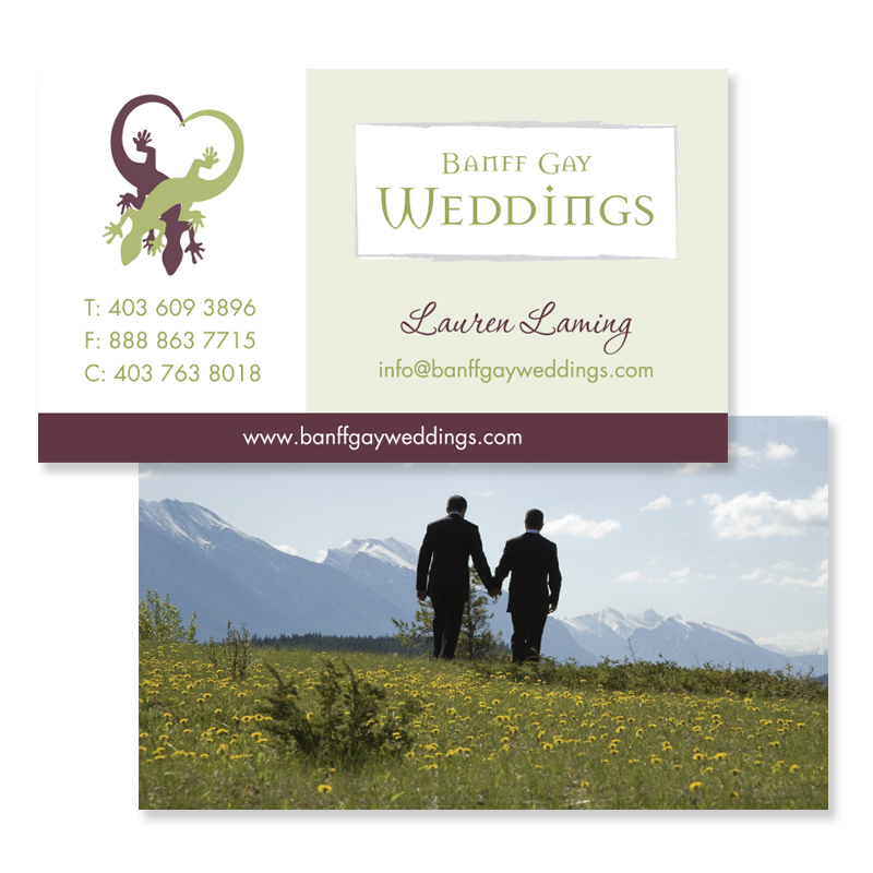 Banff Gay Weddings Branding Graphic Designer