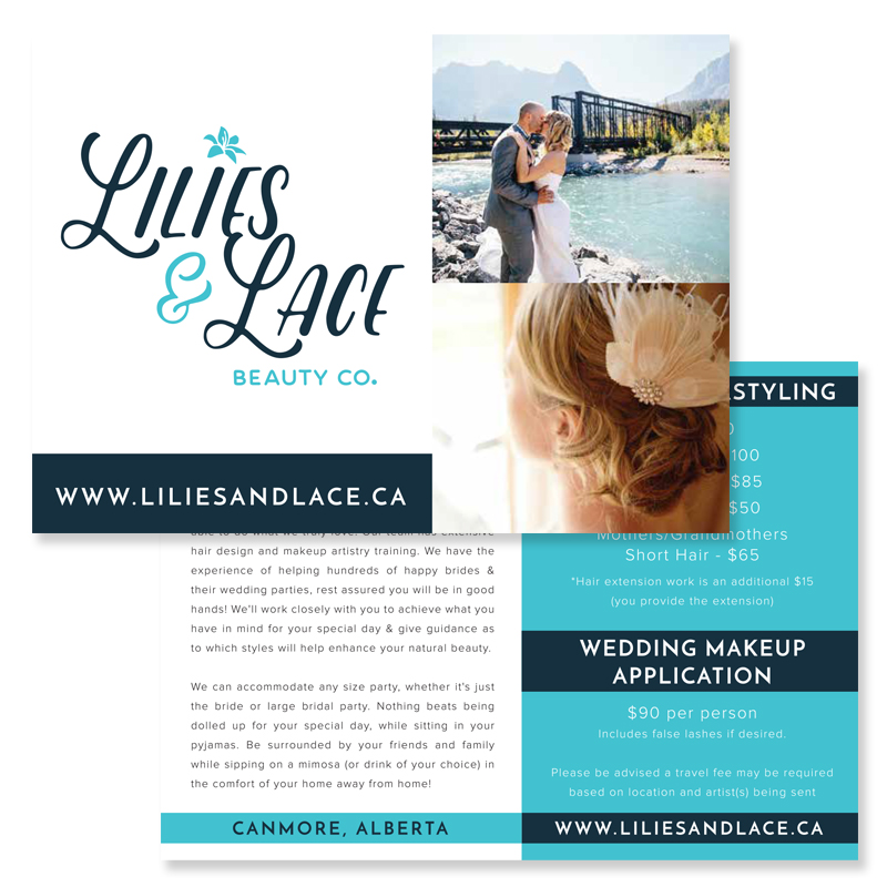 Hair Salon Logo Designer Calgary Canmore Cochrane Graphic Design