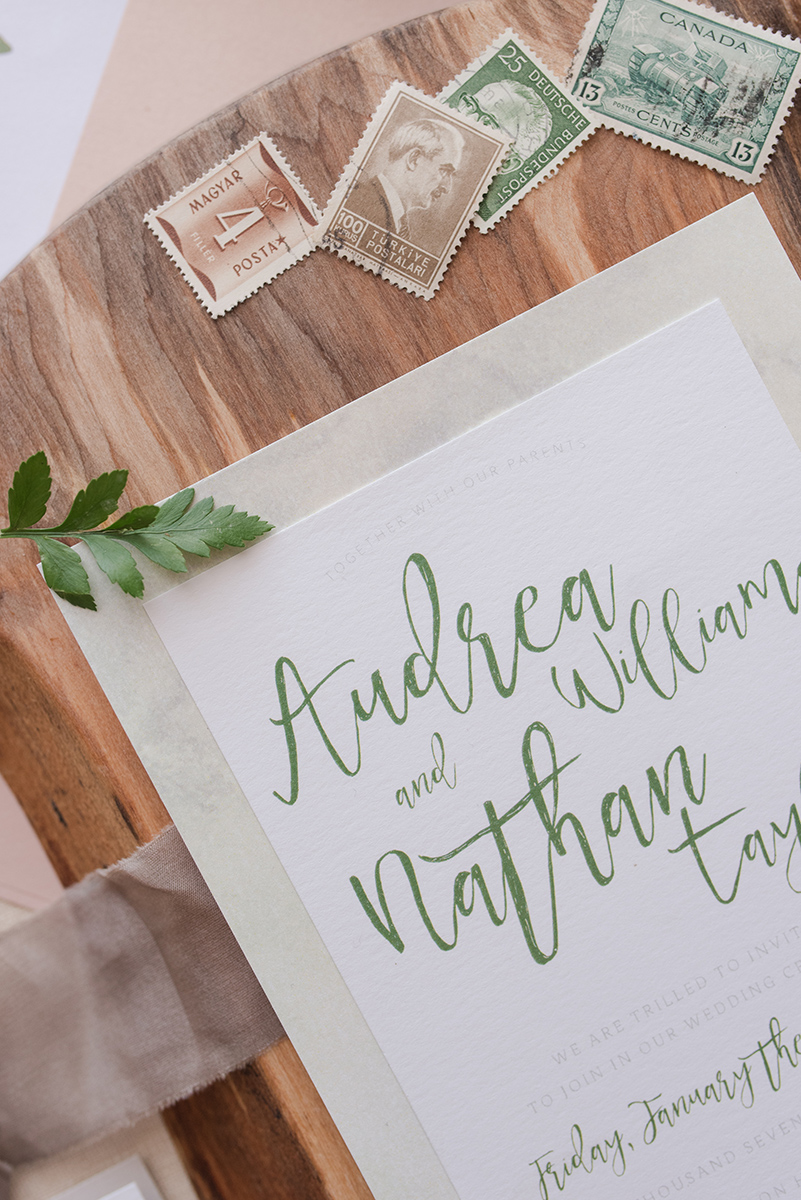 Greenery Calgary Wedding Invite Organic Natural