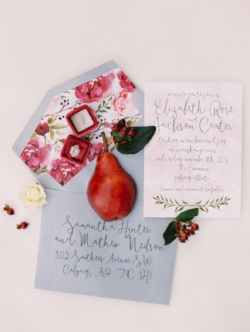 Botanical Floral Wedding Invite Calgary
