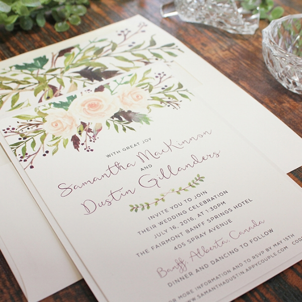 Botanical Wedding Invitation Calgary