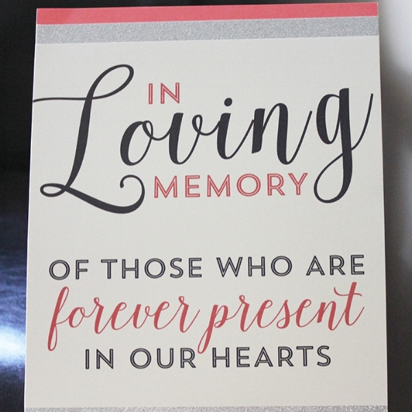 In Loving Memory Sign Wedding