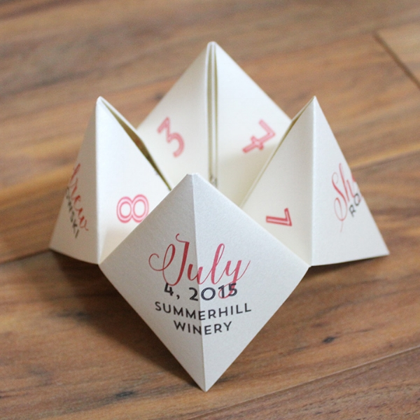 Fortune Teller Unique Wedding Program