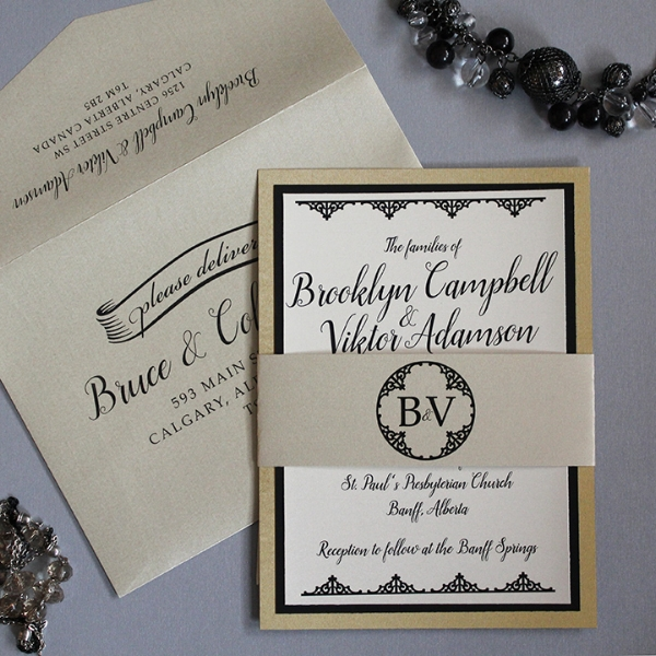 Classsic Wedding Invitations Design