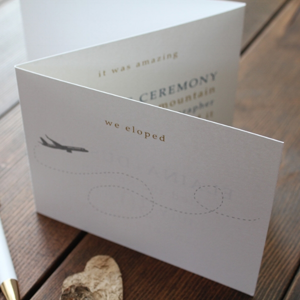 Elopement Announcement Card Calgary