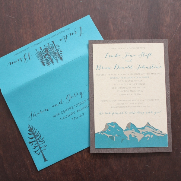 Canmore Wedding Invite Three Sisters