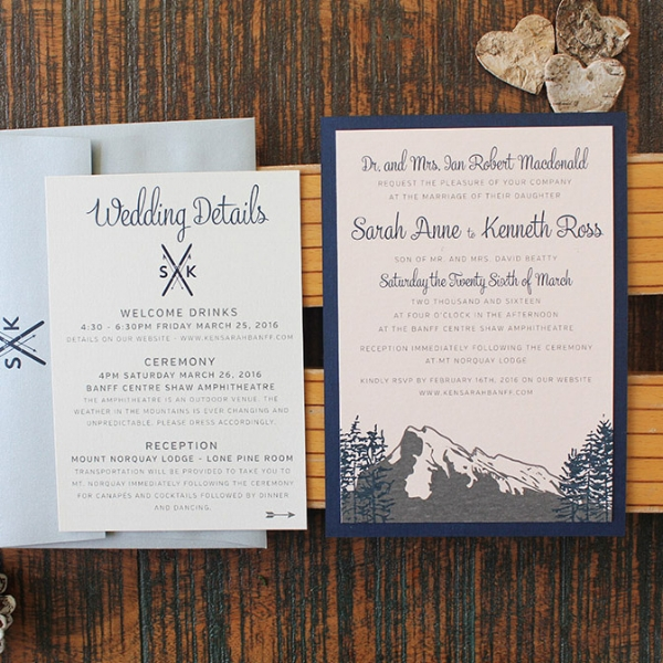 Banff Mount Norquay Wedding Invitation