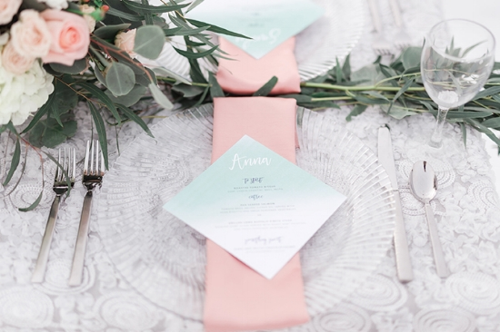 Quarry Lake Wedding Canmore Invite Menu