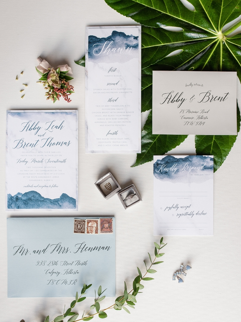 Modern Edgy Watercolor Invitation