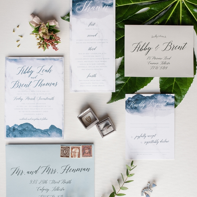 Abby Suite - Stylish Wedding Invites Watercolour Simple