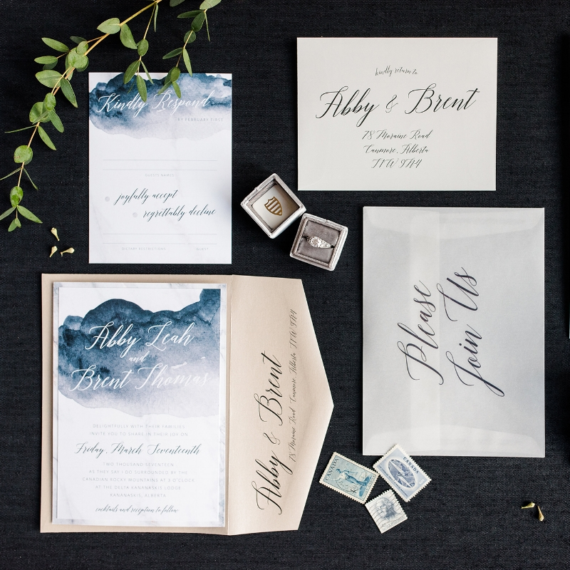 Abby Suite - Soft Romantic Watercolour Invite Suite