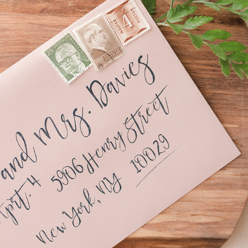 Audrea Suite - Greenery Invitation Envelope