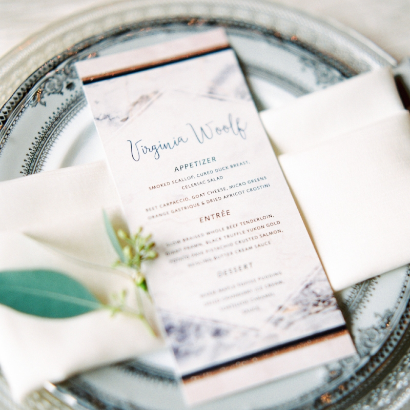 Nathan Suite - Modern Marble Invitation