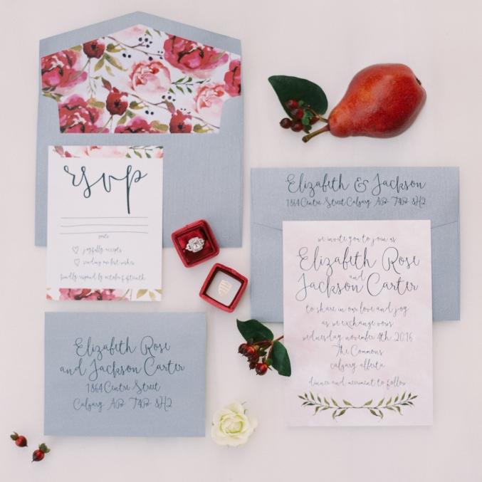 Elizabeth Suite - Modern Floral Invitation