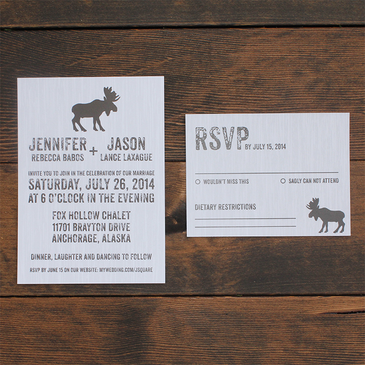Jason Suite - Rustic Moose Invitation