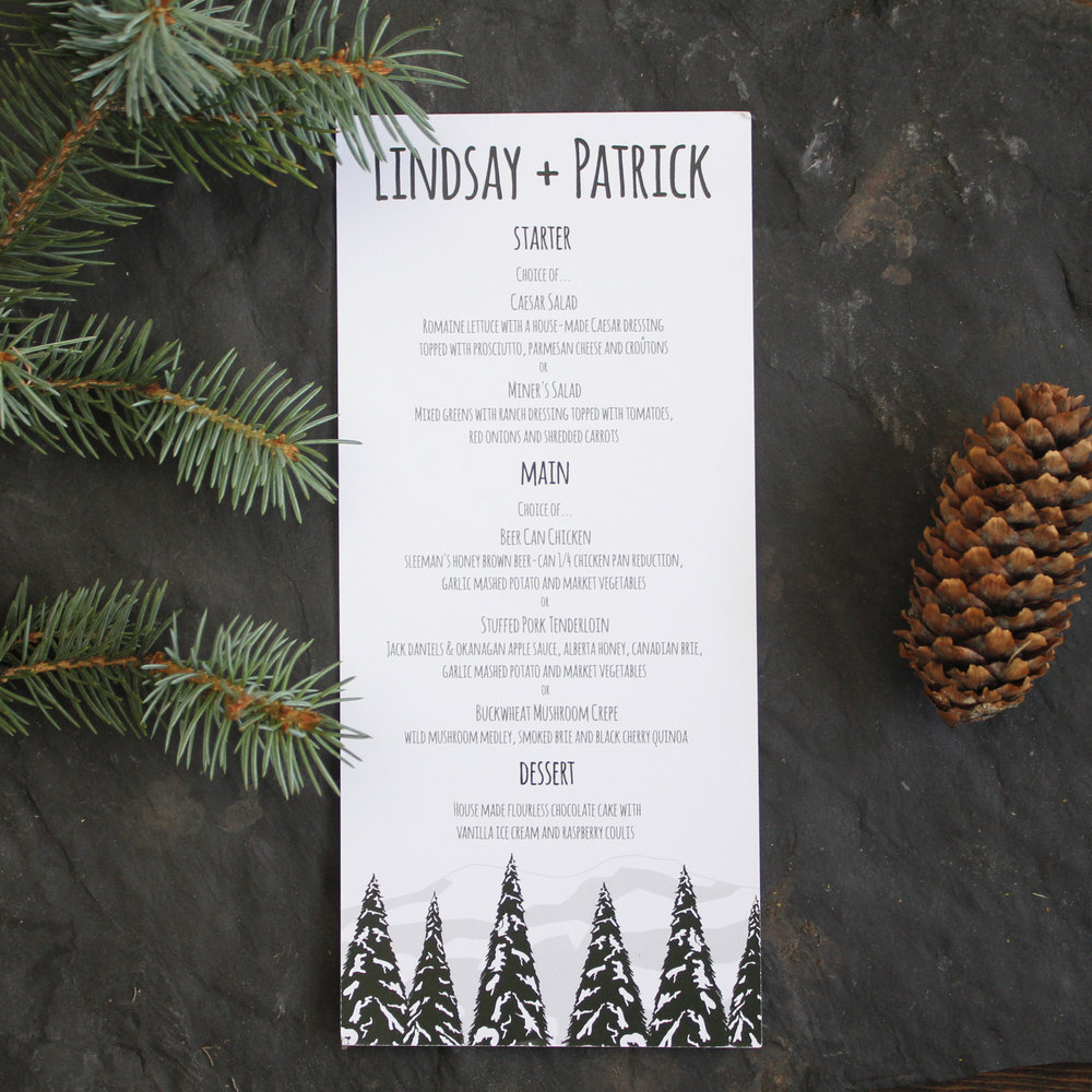Calgary_Wedding_Invitation_Mountain_Tree_Rustic_Woodland_Snow_Banff_Canmore_Menu.jpg