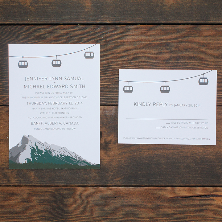 Gondola Suite - Mountain Gondola Invitation