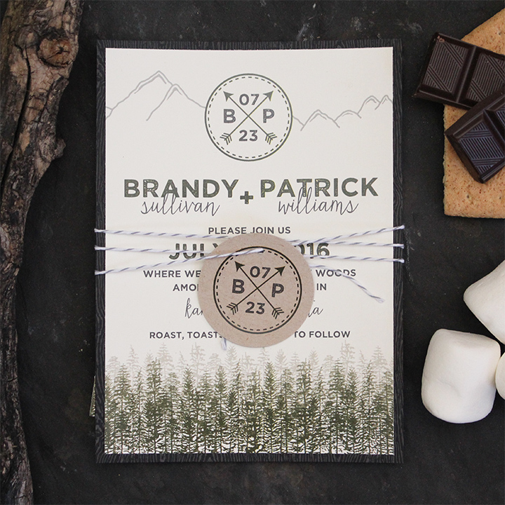 Brandy Suite - Rustic Camping Invitation