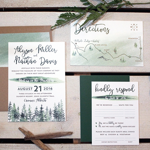 Alyson Suite - Boho Watercolour Invitation