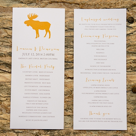 Jason Suite - Rustic Moose Wedding Menu
