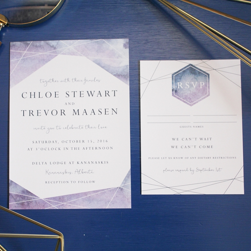Chloe Suite - Geometric Watercolour Invitation