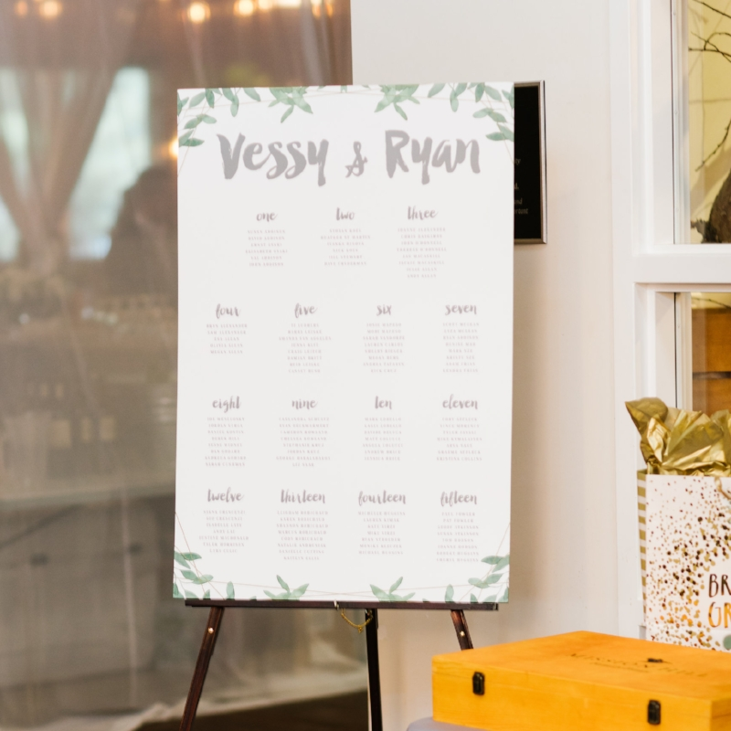 Calgary Wedding Seating Chart Stationer