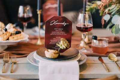 Calgary Wedding Vendors Collaborate - Merlot and Blush Inspiration