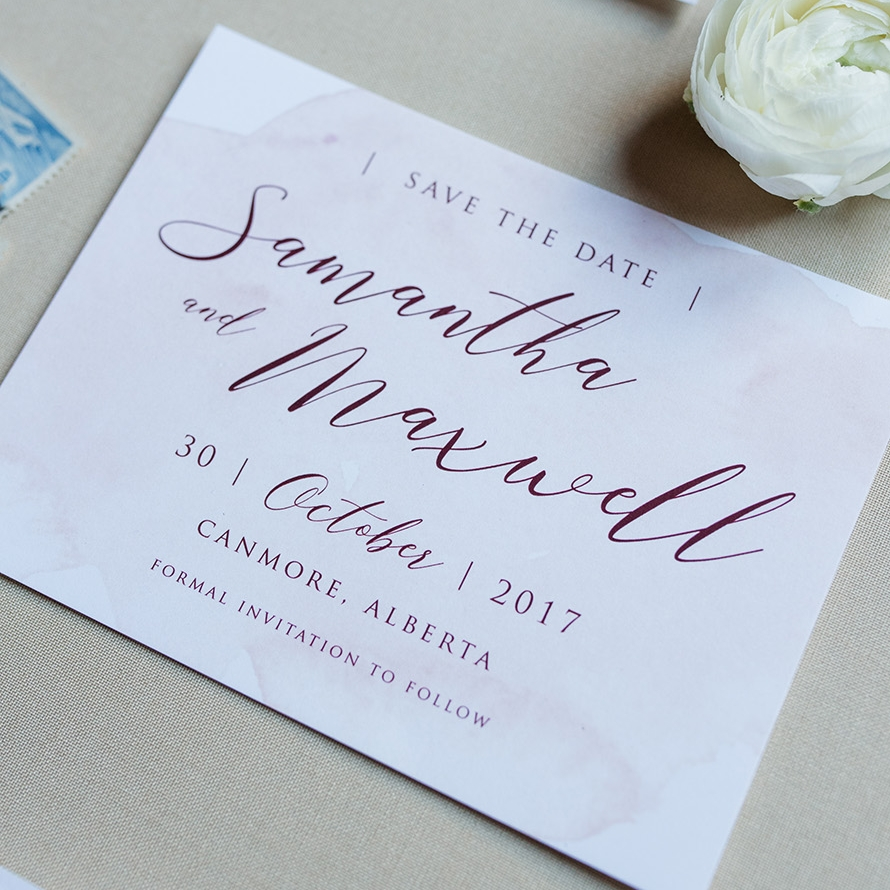 Merlot Blush Wedding Save the Date