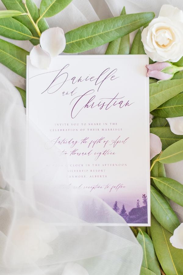 Mountain Wedding Invitation Designer Calgary