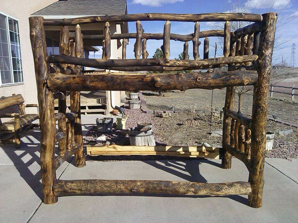 Twin Bunk Bed with built-in ladder -- $1200.00