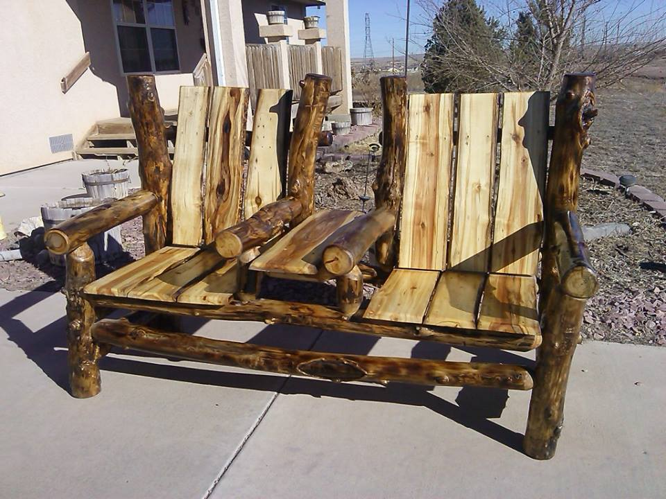 Two Seat Bench with Table -- $500.00