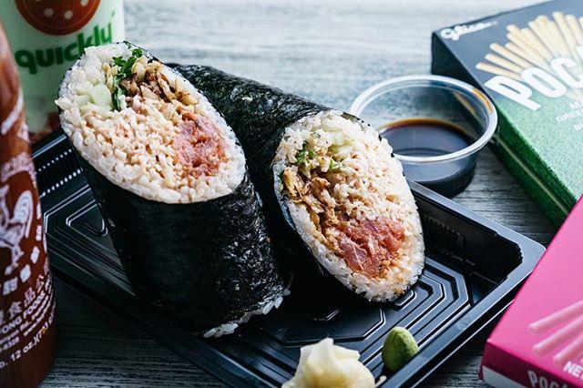 I don't know who invented the sushi burrito, but I'd like to buy them a sushi burrito. #thankyousir #notallheroeswearcapes #sushiburrito #AmericaTheBeautiful #travelfriendly #sushi #burrito #igfood #foodie #foodphotographer #Lent #seafood