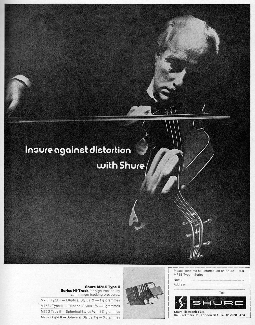 Shure M75E Type II Advert (1971).jpg