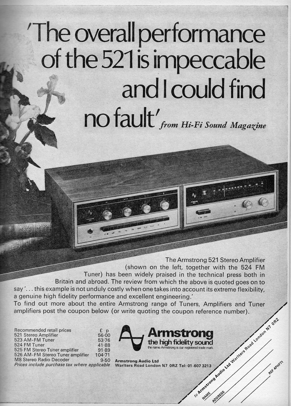 Armstrong 521, 523, 524, 525, 526, M8 Advert (1971).jpg